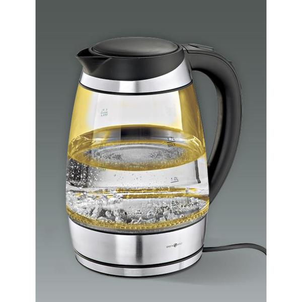 Glass electric kettle with temperature control from 50 ° C IdeenWelt 1,7l
