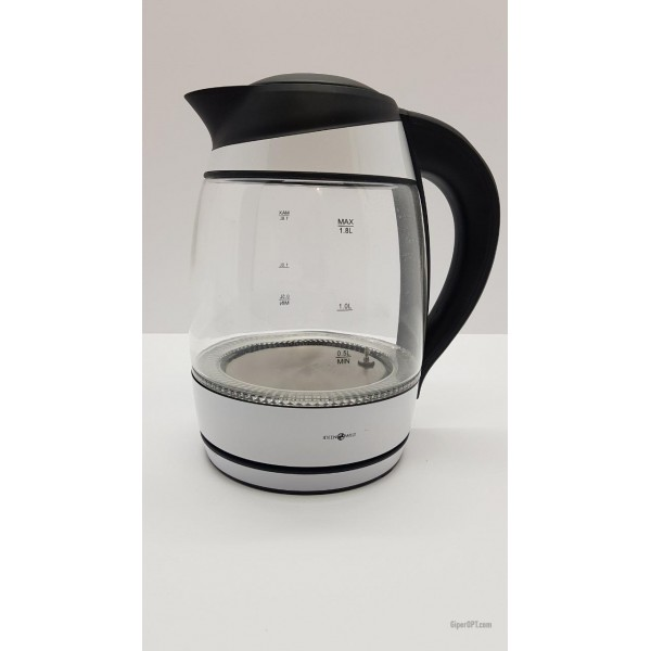 Glass electric kettle with light and temperature selection ideen welt F-683D from Germany