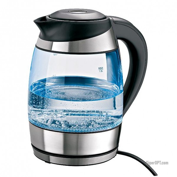 Glass electric kettle with lighting and temperature selection ideen welt from Germany
